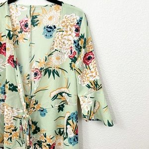 Green Floral Printed Duster